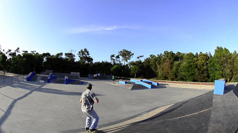 Skateboarder flying Stock Video Footage