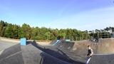 Skateboarder flying Footage