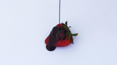 Strawberry with Chocolate Stock Video Footage