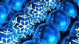 Christmas balls background. Loopable Animation
