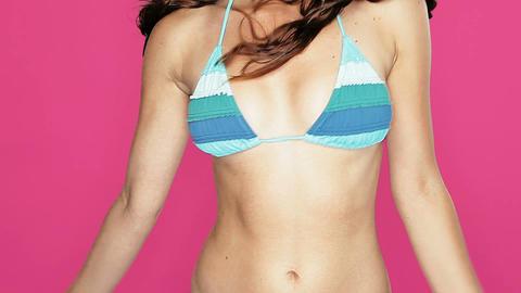 Tropical bikini girl Stock Video Footage