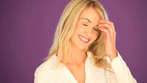 Blonde student with lovely smile Stock Video Footage