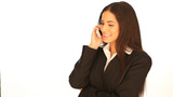 Beautiful Businesswoman Using Her Mobile stock footage