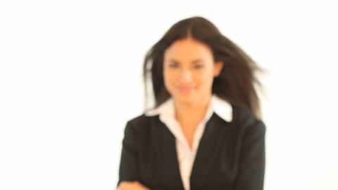 Businesswoman approaching the camera Stock Video Footage