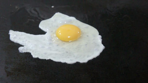 Fried Egg Stock Video Footage