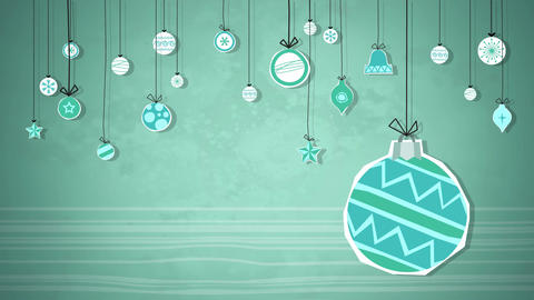 Baubles Swinging Loop HD Animation