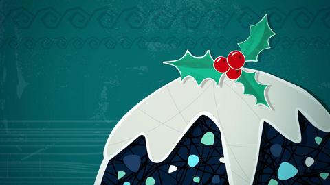 Christmas Pudding Loop HD Stock Video Footage