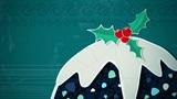 Christmas Pudding Loop HD Animation