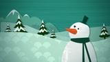 Winter Snowscape Loop HD stock footage