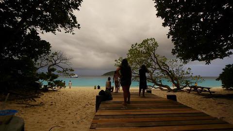 Beach resort Stock Video Footage