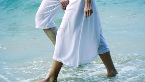 Couple on the beach Stock Video Footage