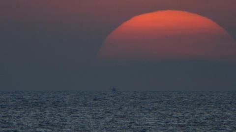 Sea sunrise Stock Video Footage