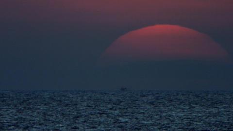 Sea sunrise TL Stock Video Footage