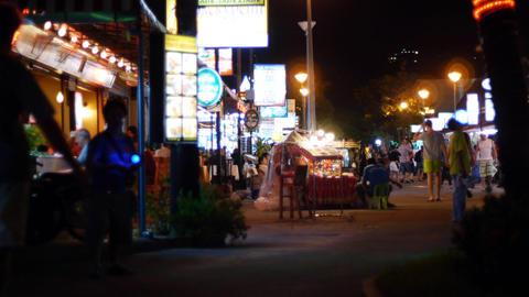 Thailand night life Stock Video Footage