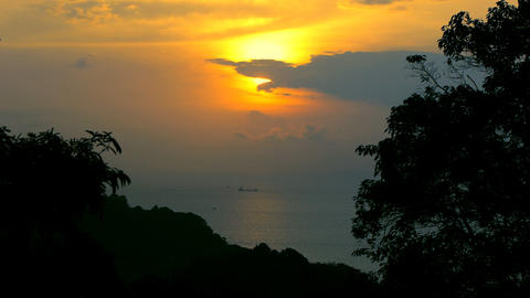 Tropical sunrise Stock Video Footage