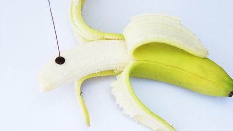 Banana and Chocolate Stock Video Footage