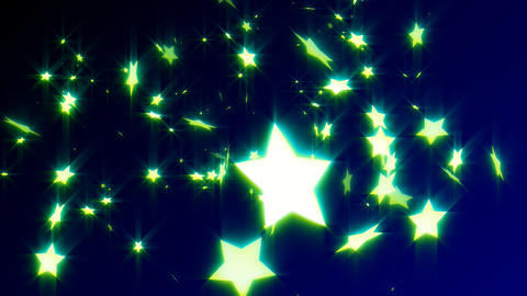HD Loopable Falling Stars Animated Background Stock Video Footage