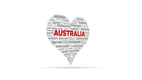 I Love Australia Stock Video Footage