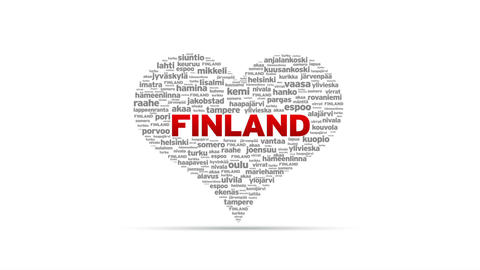 I Love Finland Stock Video Footage