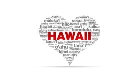 I Love Hawaii Stock Video Footage