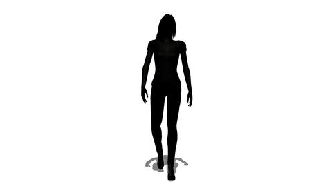 歩く女性のシルエット Animation