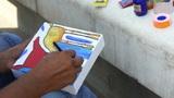 Artist Painting stock footage