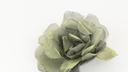 Green fabric flower Footage