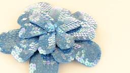 Blue fabric flower Stock Video Footage
