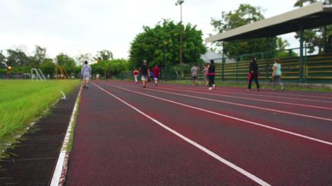 People Jogging Footage