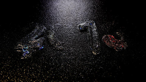 Happy New Year 2013, Time lapse ice is melting figures,... Stock Video Footage