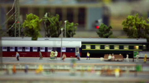 passenger train on the station platform Footage