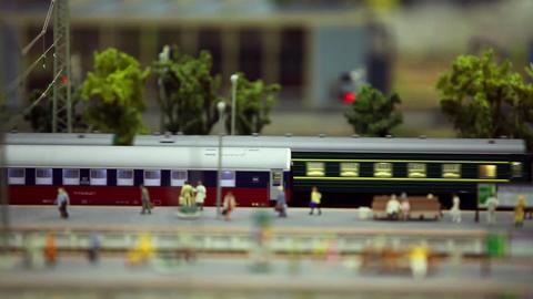 passenger train on the station platform Footage