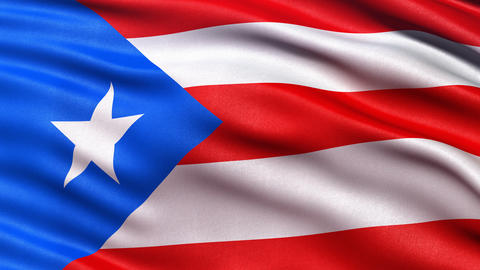 Puerto Rico flag seamless loop Animation