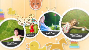 Baby Family Photo Show stock footage