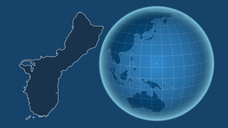 Guam and Globe. Solids Animation