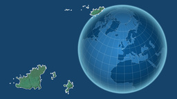 Guernsey and Globe. Relief Animation
