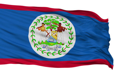 Isolated Waving National Flag of Belize Animation