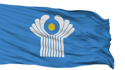 Isolated Flag Commonwealth of Independent States Animation