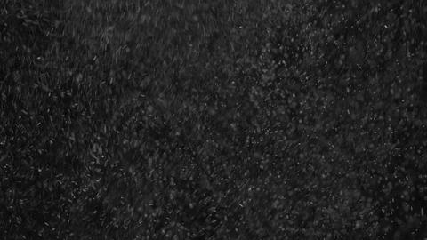 Tiny Particles of Water Vapour on Black Background Footage