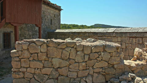 Stone walls of the old house Filmmaterial
