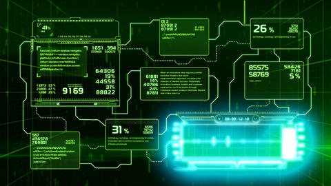 Beautiful Flowcharts Drawing Animation with Flashes and Lines Green Color. CG動画素材