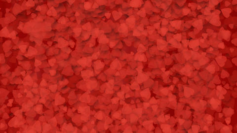 A fountain of red hearts falling to the surface Stock Video Footage