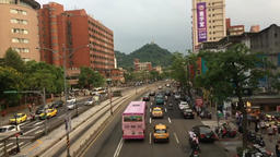 Busy road outside National Taiwan University Taipei Taiwan Timelapse Footage