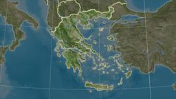 Greece and neighborhood. Satellite Animation