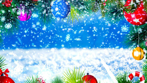 HD Loopable Background with nice snowflakes and xmas motive Animation