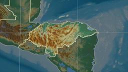 Honduras and neighborhood. Relief Animation