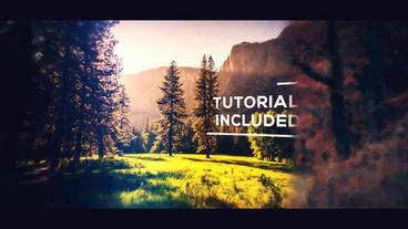 3D Cinematic Parallax Slideshow After Effects Templates