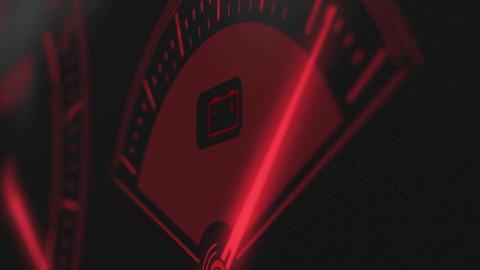 Fuel meter red hud, Stock Animation