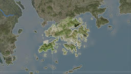 Hong Kong and neighborhood. Satellite Animation