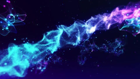 Glowing space particles Animation